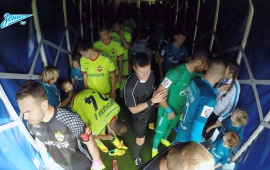 Hidden Camera» Zenit-TV «at the match against CSKA Moscow