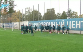 Open training session before the match with «Anji»