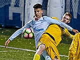 Zenit U17 striker Giuliano Baptista is the top scorer in the Youth Championship of St. Petersburg