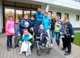 Club Good Deeds: The team hosted visitors at the Gazprom training centre