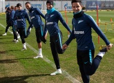 Photos from training before the match with Anzhi