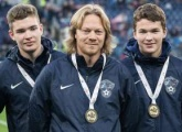 Local champions take a lap of honour at Stadium St. Petersburg