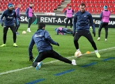 Photos from training before the game with Slavia Prague