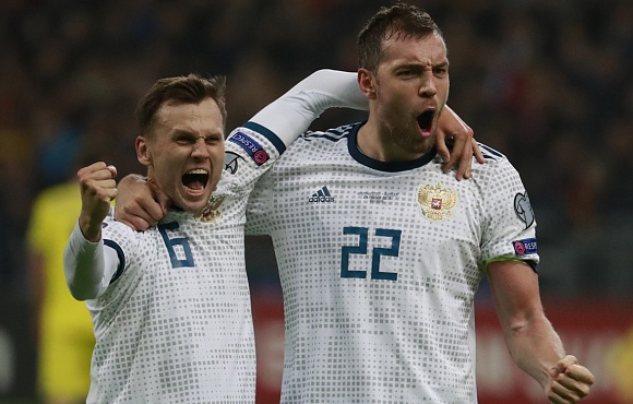 Kazakhstan v Russia: Dzyuba scored his 16th goal for Russia