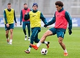 Photos from the open training session before Anzhi - Zenit