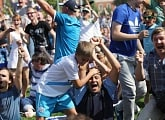 Zenit fans support their team together at New Holland Island: photo report