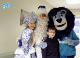 Father Christmas and Zenit visiting young fans in hospital