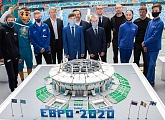 50 days until Euro 2020 celebrated at the Gazprom Arena