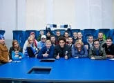 Axel Witsel met the winners of the Zenit-Sport Forecast contest