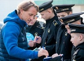 Club Good Deeds: Students from the Nakhimov Naval Academy came to Zenit
