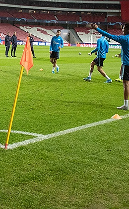 Photos from open training before the game with Benfica