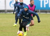 Photos from open training before Zenit v Rubin Kazan