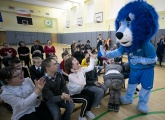 New Year's visit of the blue-white-sky blues to St. Petersburg's Down Syndrome Centre