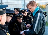 Photo report from the Nakhimovtsy Naval Academy visit to Zenit